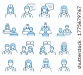 doctor flat line icons.... | Shutterstock .eps vector #1775679767