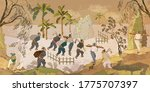 traditional chinese paintings.... | Shutterstock .eps vector #1775707397