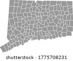 grey blank connecticut state... | Shutterstock .eps vector #1775708231