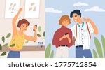 joyful woman and couple... | Shutterstock .eps vector #1775712854