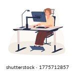 happy female office worker...   Shutterstock .eps vector #1775712857