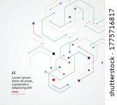 geometric shape with hexagons....   Shutterstock .eps vector #1775716817