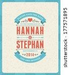 wedding invitation card... | Shutterstock .eps vector #177571895