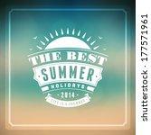 summer vector typography....   Shutterstock .eps vector #177571961