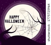 happy halloween border with... | Shutterstock .eps vector #1775725964