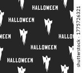 scary ghost seamless pattern... | Shutterstock .eps vector #1775726321