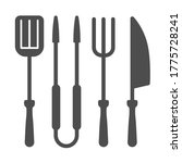 bbq grill set solid icon  bbq... | Shutterstock .eps vector #1775728241
