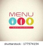 menu design over  gray... | Shutterstock .eps vector #177574154