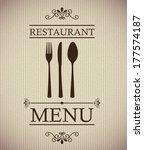 menu design over gray... | Shutterstock .eps vector #177574187