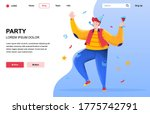 party flat landing page...