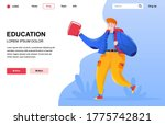 education flat landing page...