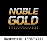 vector text noble gold. stylish ... | Shutterstock .eps vector #1775749364