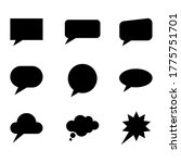 speech bubble set icon isolated ...