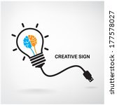 creative light bulb idea...   Shutterstock .eps vector #177578027