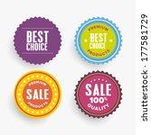 flat vector badges and emblems | Shutterstock .eps vector #177581729
