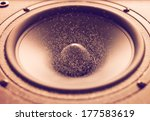 Large Speaker Doing A Bass Tes...