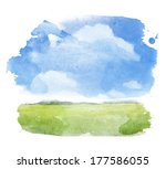 watercolor illustration of a... | Shutterstock . vector #177586055
