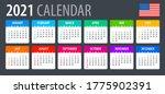 2021 calendar   vector... | Shutterstock .eps vector #1775902391