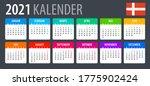 2021 calendar   vector template ... | Shutterstock .eps vector #1775902424