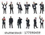 set of business people isolated ... | Shutterstock . vector #177590459