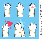 cat paw with different gestures ...   Shutterstock .eps vector #1775920961
