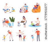 parents and kids spending time... | Shutterstock .eps vector #1775931077