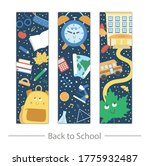 vector back to school bookmarks ...