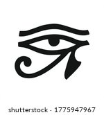 the ancient egyptian moon sign  ... | Shutterstock .eps vector #1775947967