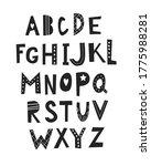 abc   latin alphabet. kids wall ...   Shutterstock .eps vector #1775988281