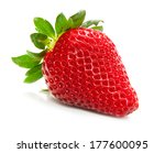 Fresh Strawberries Isolated On...