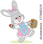 rabbit in a holiday dress... | Shutterstock .eps vector #177600119