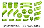 vegan eco organic banners and...   Shutterstock .eps vector #1776005351