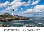 Light House On A Rocky Sea...