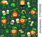 st. patrick's day's seamless... | Shutterstock .eps vector #177603281