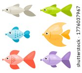 set of colorful  cartoon fish | Shutterstock .eps vector #1776037967