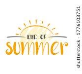 hand drawn end of summer letter ... | Shutterstock .eps vector #1776103751