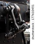 black metal train tow hooks... | Shutterstock . vector #177610451