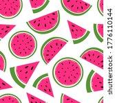 watermelon vector seamless... | Shutterstock .eps vector #1776110144