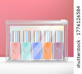 vector mini nail polish set... | Shutterstock .eps vector #1776126584