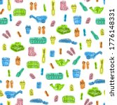 spring seamless pattern with... | Shutterstock . vector #1776148331
