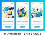 mobile app design  template. 2d ...   Shutterstock .eps vector #1776172031