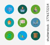 property icons set. buyer and...