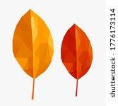 yellow and orange polygonal ... | Shutterstock .eps vector #1776173114