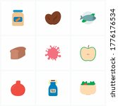 natural food icon set and...