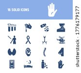 healthcare icon set and test...
