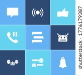 bot communication icon set and...