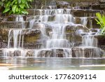 artificial water fall in the... | Shutterstock . vector #1776209114