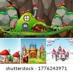 four different scene of fantasy ... | Shutterstock .eps vector #1776243971