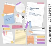 set of blank paper notes with... | Shutterstock .eps vector #1776249977