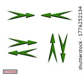 arrow icons with flat style.... | Shutterstock .eps vector #1776252134